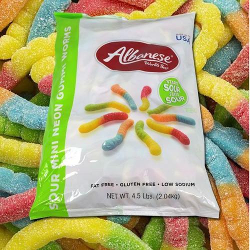 Gummi Mini Sour Neon Worms 4.5lb