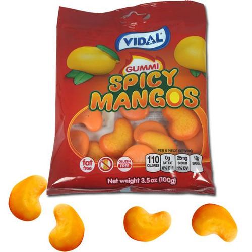 Gummi Spicy Mangos 3.5oz Bag