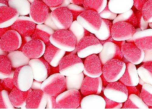 Gummi Strawberry & Cream Puff Drops 2.2lbs