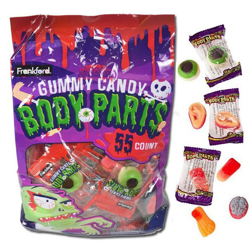 Gummy Body Parts Wrapped 55 Count