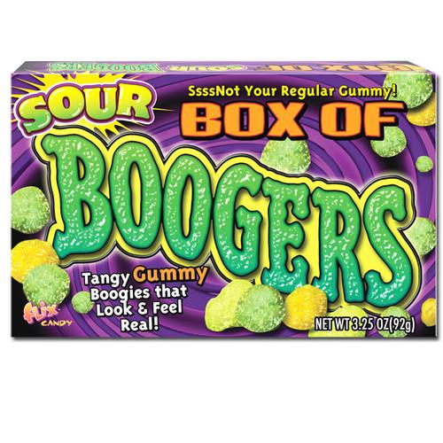 Gummy Sour Boogers Candy 3.25oz