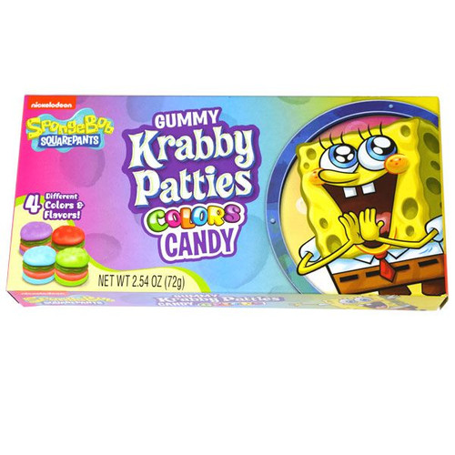Gummy Krabby Patties Colors Candy 2.54oz Box