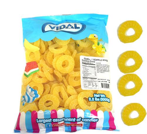 Gummi Pineapple Rings 2.2lbs (168 Count)