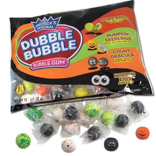 Dubble Bubble Halloween Assorted Gumballs 12oz Bag