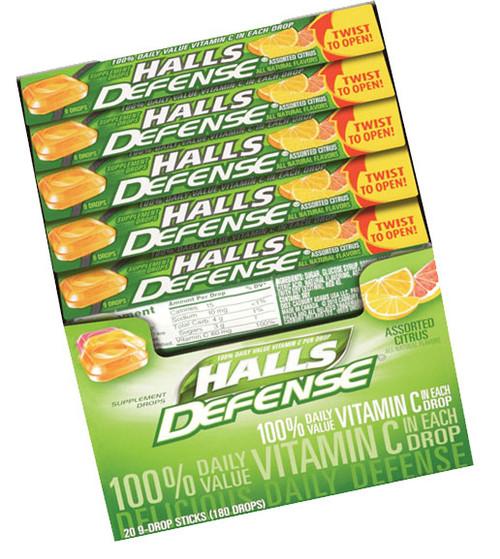 Halls Cough Drops Sticks 20ct - Citrus Vitamin C
