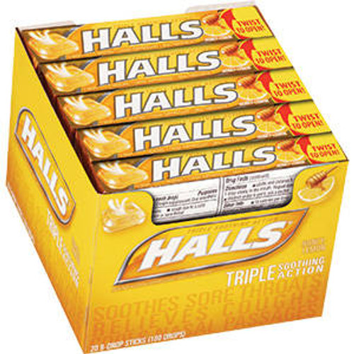 Halls Cough Drops Sticks 20ct - Honey/Lemon