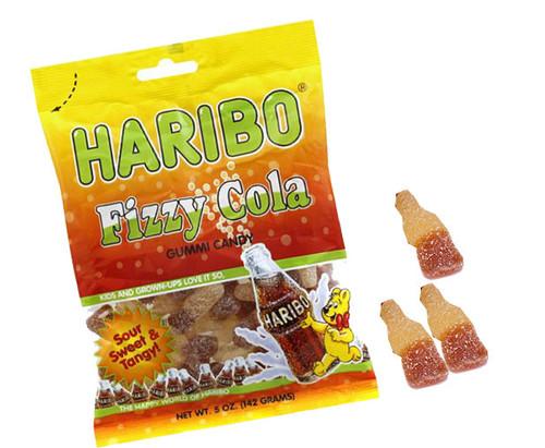 Haribo Gummi Fizzy Cola Bottles 5oz Bag