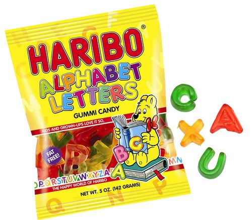 Haribo Gummi Letters 5oz Bag