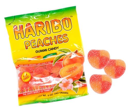 Haribo Gummi Peaches 5oz Bag