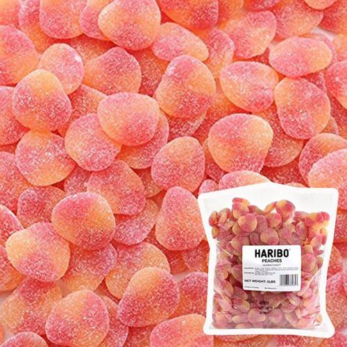 Haribo Gummi Peach Slices 5lb Bag