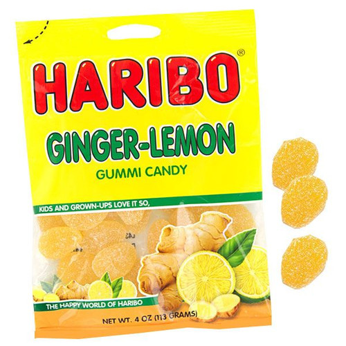 Haribo Gummy Ginger Lemon 4oz bag