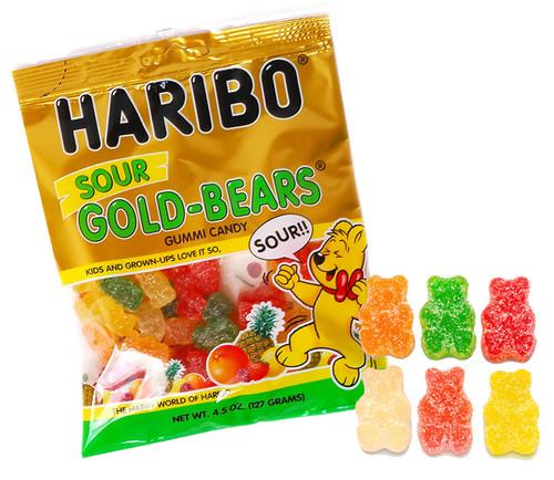 Haribo Sour Gummi Bears 4.5oz Bag