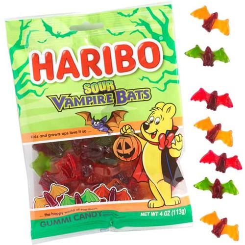 Haribo Gummi Sour Vampire Bats 4oz