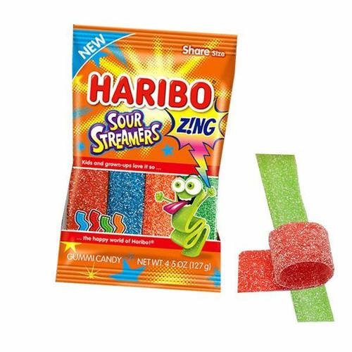 Haribo Zing Sour Streamers 4.5oz Bag