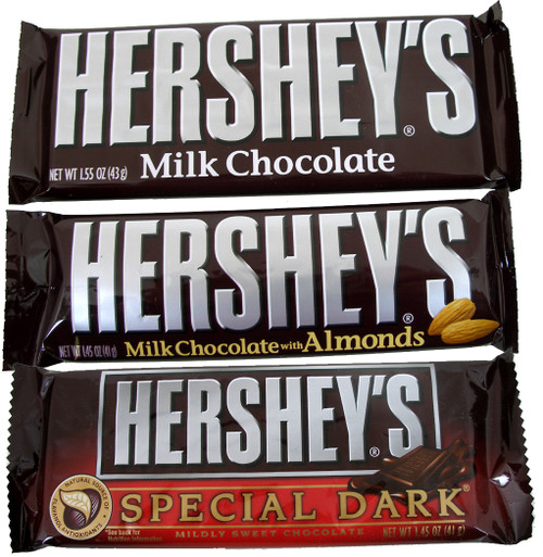 Hershey's Candy Bar 36 Count Box (Pick- Plain, Almond or Dark)