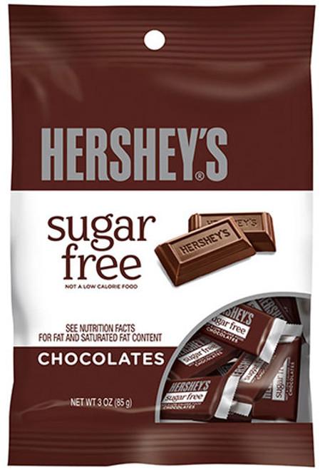 Hershey's Plain Chocolate Bar Sugar Free 3oz Bag