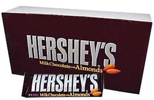 Hershey Candy Bar 36ct - Almond