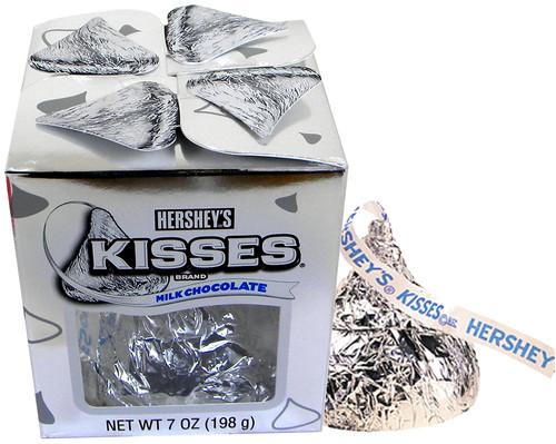 Hershey's Giant Kiss 7oz Silver Wrapped