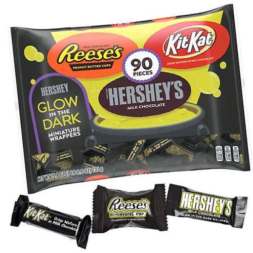 Hershey's Assorted Glow In Dark Bars 90 Count