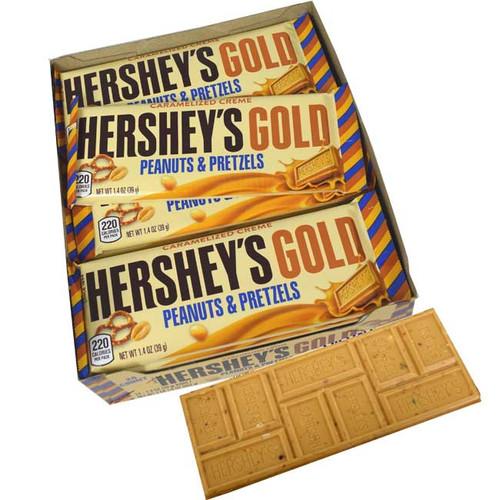 Hershey's Gold Peanuts & Pretzels 24 Count