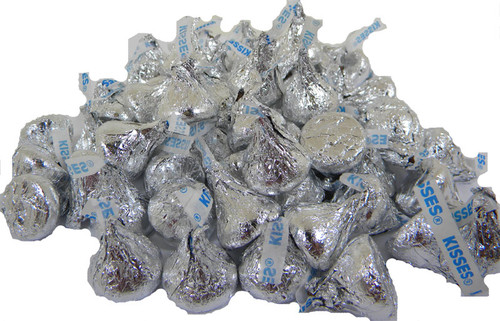 Hershey's Kisses Milk Chocolate Silver 24oz