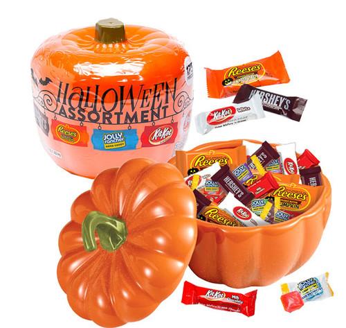 Halloween Assortment Candy Filled Pumpkin (160 pieces inside)