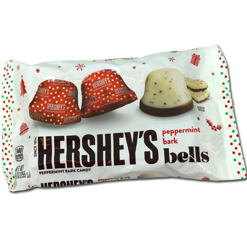 Hershey's Peppermint Bark Bells 9oz Bag