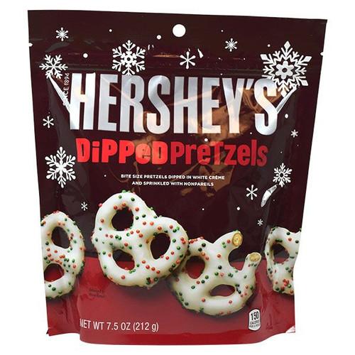 Hershey's White Chocolate Covered Pretzels Holiday 7.5oz