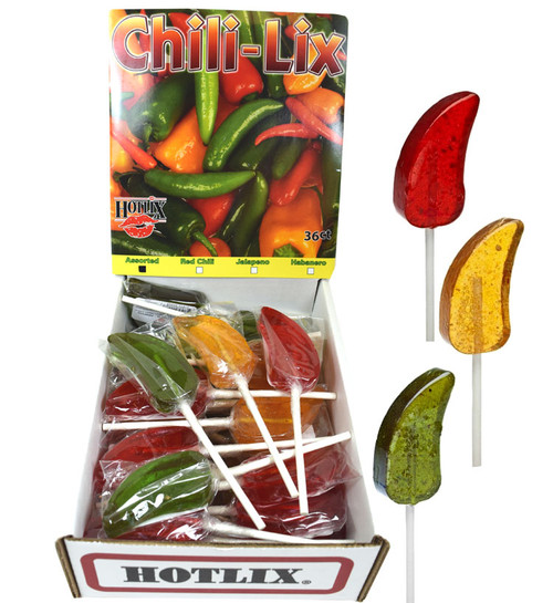 Hotlix Chili-Lix Assorted Lollipops