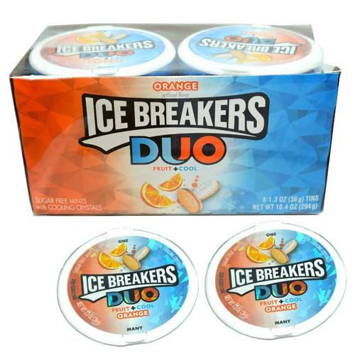 Ice Breaker Duo Mints Orange 8 Count
