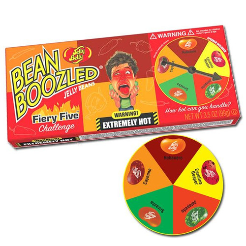 Jelly Belly Fiery Five Spinner Jelly Bean Boozled Game 3.5oz
