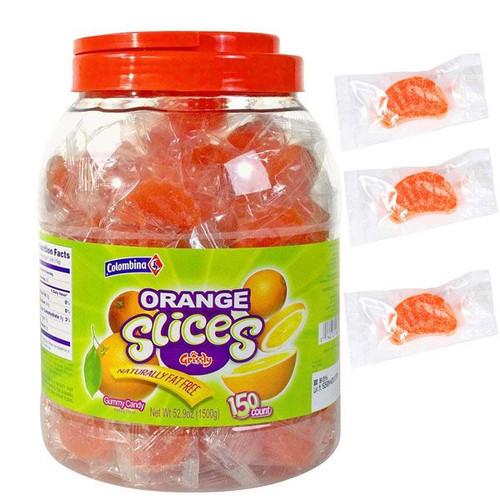 Orange Slices Wrapped 150 Count