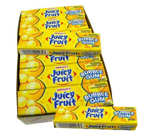 Juicy Fruit Bubble Gum Original 18 count