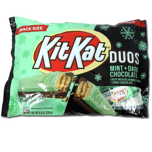 Kit Kat Duos Mint Dark Chocolate Snack Size Bars 8.8oz