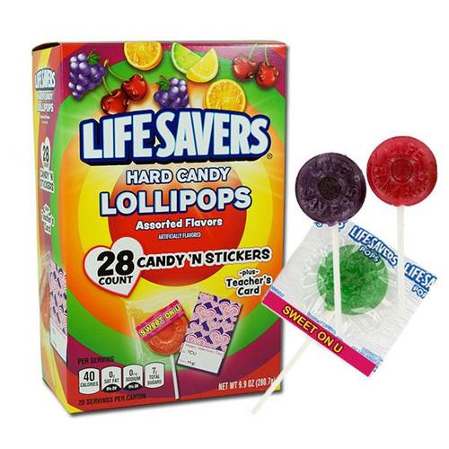 LifeSavers Lollipops Valentine's Day 28 Count