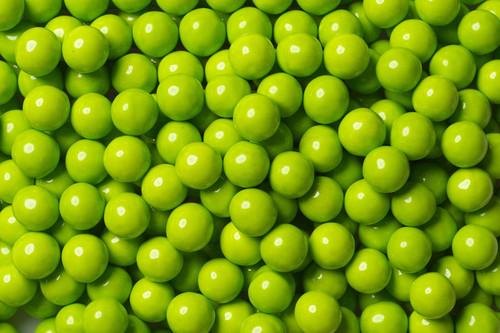 Lime Green Mini Chocolate Balls 2lb Bag Sixlets