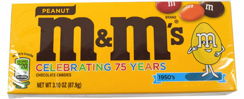 M&M Peanut Candy 3.1oz Theater Size Box