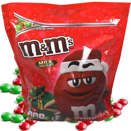 M&M's Plain Christmas 38oz Bag