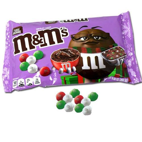 M&M's Fudge Brownie Holiday 9.5oz Bag