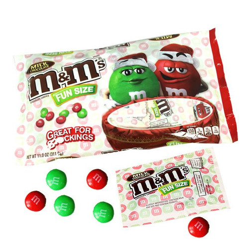 M&M's Christmas Fun Size 11oz Bag (20 Count)