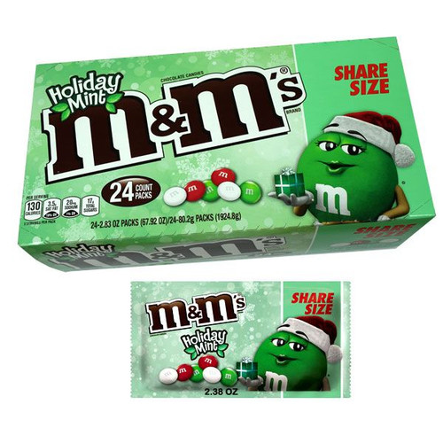 M&M's Mint Chocolate Holiday Share A Size 24 Count