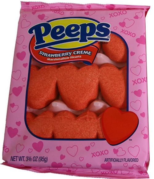 Marshmallow Peep Hearts Strawberry Cream