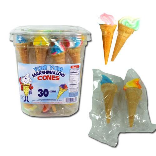 Marpo Marshmallow Cones TUB 30 Count