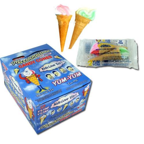 Marpo Marshmallow Cones 2pk- 24 Count