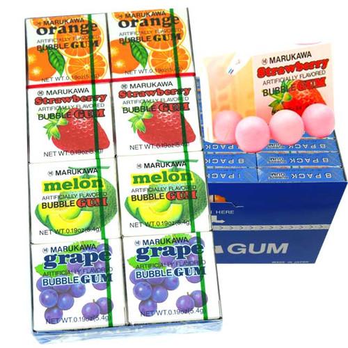 Marukawa Bubble Gum Assorted 24 Count