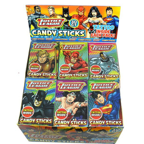 Justice League Sticks With Tattoo 30 Count