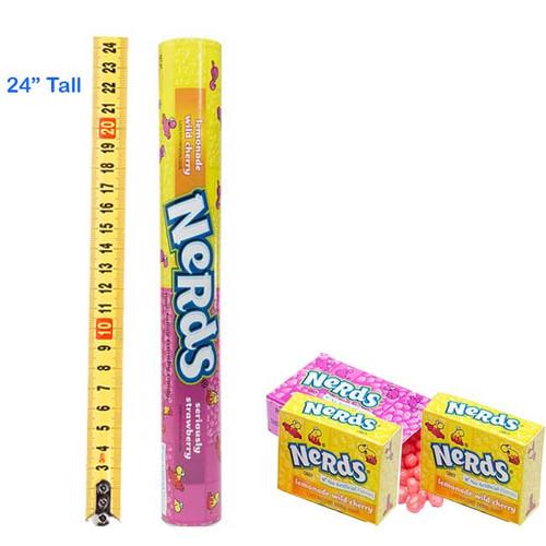 Mega Tube Bank Nerds Candy (2 Feet Tall)