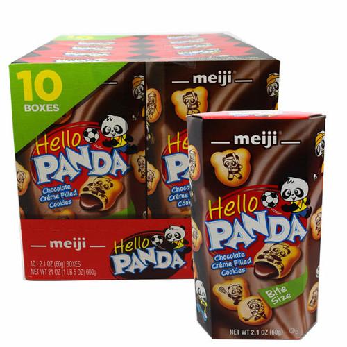 Meiji Hello Panda Chocolate Cookies 10 Count