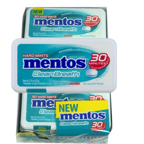 Mentos Clean breath Mints Wintergreen 12 Count