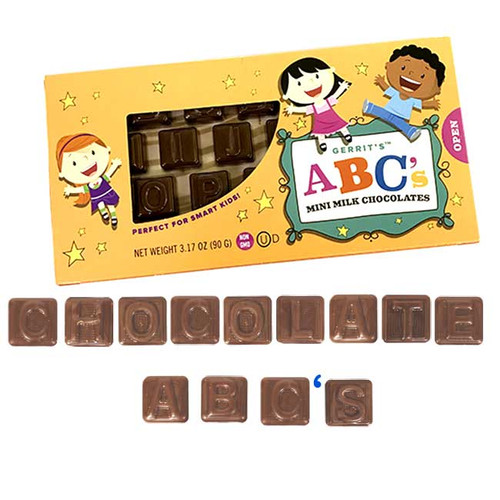 Milk Chocolate Mini ABC's